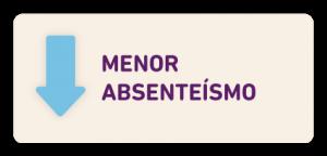 menor absenteísmo